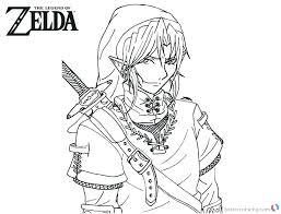Legend Of Zelda Coloring Pages Elegant The Page Ocarina Time