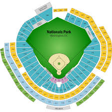 Nationals Tickets Seating Chart Up To Date Washington Nationals Seat Map Nationals Park