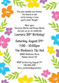 Hawaii Theme Party Invites A Luau Hibiscus Party Invitation Download