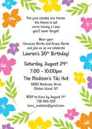 Hawaiian Pool Party Invitations Hawaii Theme Party Invites A Luau Hibiscus Party Invitation Download