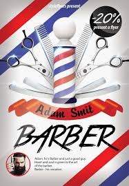 barber flyer barber psd flyer template 7303 styleflyers