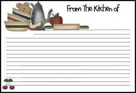 Recipe Paper Template 13 Recipe Card Templates Excel Pdf Formats