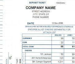 Free Cash Deposit Slip Template. Cash Deposit Slip Template Excel ...