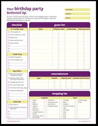 Party Planning Lists Exclusive Printables Free Time Saving Printable Planners