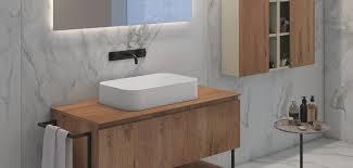 12,5 cm beckenmaß 24,5 x 33,5 cm und waschtischunterschrank bodenstehend 1 tür 1 glaseinlegeboden inkl. Waschplatz Losungen Fur Auflagewaschtische Bad Direkt