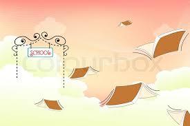 Stock Illustration Books Colourbox School Vector At Flying Of