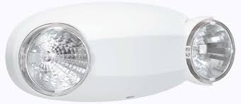 compact low emergency light fixtures white finish test switch approved emergency low profile design easy install