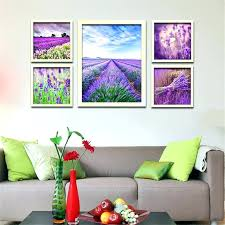 wall arts lavender wall art hot modern canvas painting purple flowers home decoration picture
