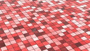 Red Floor Tiles Kitchen Background Red Colored Floor Tiles Stock Photo Picture And
