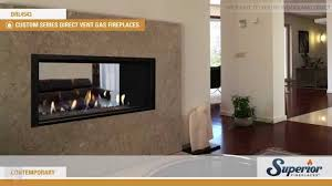 superior drl4543 direct vent see through linear gas fireplace