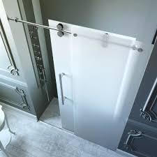 vigo frameless shower door 3 8 in frosted glass in shower door vigo frameless glass shower