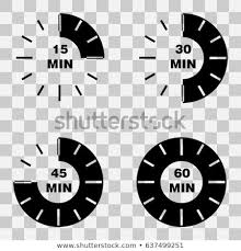 Set Timer For 15 Timer Set Minutes 15 30 45 Stock Vector Royalty Free 637499251