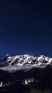 night-mountain-blue-sky-space-star-dark