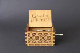 Engraved Wooden Music Box Game Of Thrones Engraved Handmade Wooden Music Box Game of Thrones 6