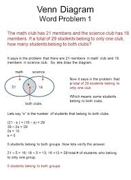 Examples Of Venn Diagram Word Problems How To Insert Venn Diagram In Word Math Diagrams Worksheet