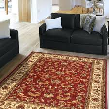 4 6 brown area rug red cream oriental carpet actual 3 x image is loading rugs