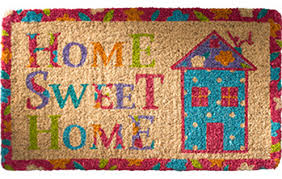 Small Picture Eco Friendly Coir Door Mat Home Sweet Home Second Nature Online