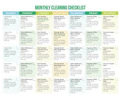 of the best printable cleaning schedules cleaningschedule