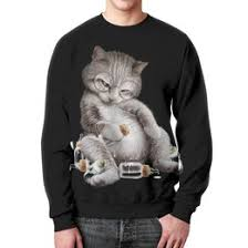 """Свитшоты c эксклюзивными принтами """"catcat"""" - купить в ..."""