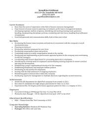 Transform Hr Manager Job Resume Sample On Sample Hr Manager