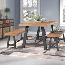 dining room table bench. Fine Room Lebanon 3 Piece Wood Dining Set And Room Table Bench Wayfair