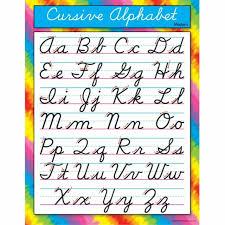 Online Cursive Chart Trend Enterprises Cursive Alphabet Modernlearning Chart T 38137