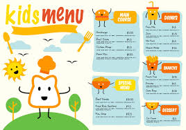free food menu templates kids menu free vector art 4079 free downloads