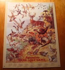 Details About Remington Game Load Bird Deer Duck Animal Identification Chart Hunter Sign Decor