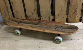 each is oil finished to enhance the color and durability and laminated with skateboard industry grade adhesive they re decks with stories