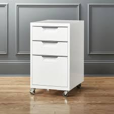 image of 3 drawer modern file cabinet