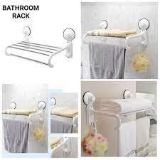wall mount bathroom towel rack holder