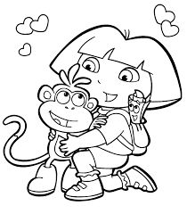 Small Picture Free Printable Dora The Explorer Coloring Pages For Kids