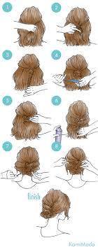 ボブでも出来る簡単アップヘアアレンジイラスト付きー髪のお悩みや
