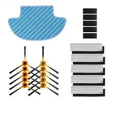 Side <b>Brush</b> hepa <b>Filter Sponge filters Mop cloth Magic paste for</b> ...
