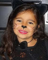 black cat makeup for kid