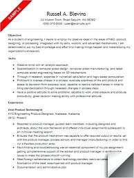 Sample Resume Mechanical Engineer