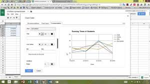 Making A Multi Line Line Graph In Google Sheets