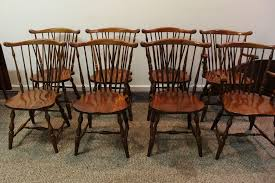 Pennsylvania House Dining Room Table Set Of 8 Pennsylvania House Brace Back Windsor Dining Chairs From