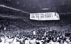 the decline of labor the increase in inequality international ladies garment workers union ilgwu address a crowded hall at madison square garden 1958 flickr