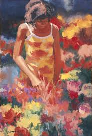 flower girl oil 2008 available as a giclee