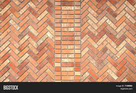 Herringbone Brick Pattern Awesome Brick Wall Image Photo Free Trial Bigstock