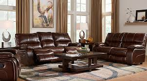 leather couch living room. Unique Living Interesting Modern Cindy Crawford Home Gianna Brown Leather 5 Pc Living Room  With Reclining Sofa And S  Inside Couch T