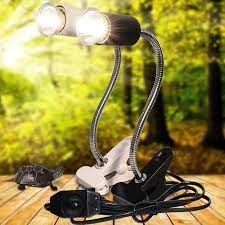UVA + UVB 3.0 sürüngen lamba seti Clip on ampul lamba tutucu kaplumbağa  Basking UV ısıtma lamba kiti kaplumbağa işık kertenkele aydınlatma Habitat  Lighting