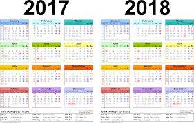 2017 2018 calendar free printable two year calendars