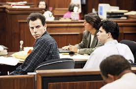 1990, the menendez trial, the menendez brothers blame the murder of their parents on their identical twin brothers., menendez brothers, john malkovich menendez, john malkovich court tv, murder brothers, menendez twins, parent murderers trial. Parent Killing Menendez Brothers Burst Into Tears Upon Reuniting For First Time Since Sentencing New York Daily News