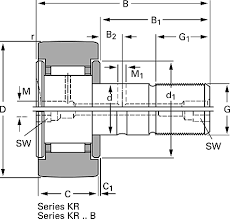 kr22 ppa skf stud track roller kr22 ppa skf stud type
