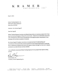 Letter Of Recommendation Engineering Magdalene Project Org