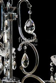 chandelier for interior of the living room large silver crystal chandelier isolated on black background
