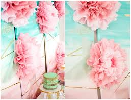 Martha Stewart Paper Flower Blush And Mint Party With Martha Stewart For Michaels A Girl And