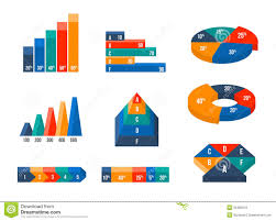 Vector Graphs And Charts Charts Diagrams And Graphs In Modern Isometric 3d Stock